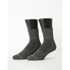 寬口運動逆氣流氣墊襪-深灰