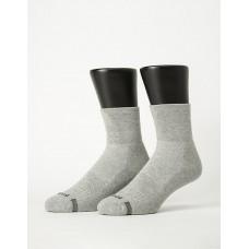 寬口運動逆氣流氣墊襪-淺灰
