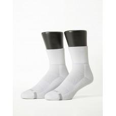 寬口運動逆氣流氣墊襪-白色