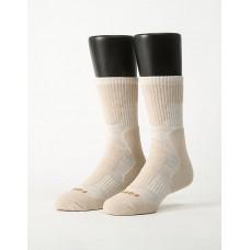 減壓顯瘦登山運動襪-米白