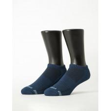 單色運動逆氣流氣墊船短襪-深藍