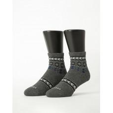 民族圖騰微分子長薄襪-深灰