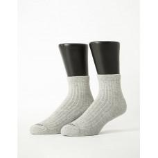 復古直線條微分子長薄襪-淺灰