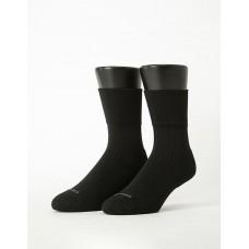 微分子氣墊紳士素面寬口襪-黑色
