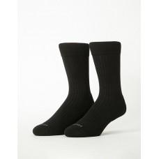 微分子氣墊紳士雅痞長薄襪-黑色