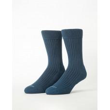 微分子氣墊紳士雅痞長薄襪-藍色