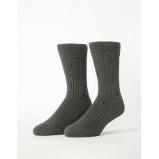 微分子氣墊紳士雅痞長薄襪-深灰