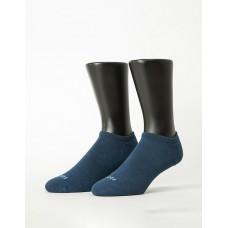 微分子氣墊單色船型薄襪 - 藍色
