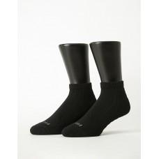 輕壓力氣墊機能襪-黑色