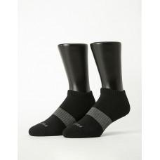 時光秘徑運動船短襪-黑色