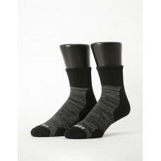 花紗設計款氣墊運動襪-黑色