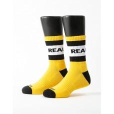 率性自我運動氣墊襪-黃色
