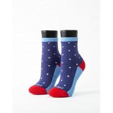 繽紛三角氣墊襪-藍色