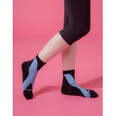 X系列輕壓力機能氣墊襪-黑色