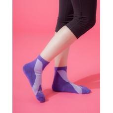 X系列輕壓力機能氣墊襪-紫色