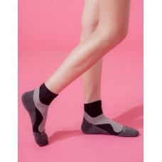 輕壓力流線型氣墊襪-黑色