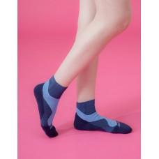 輕壓力流線型氣墊襪-藍色