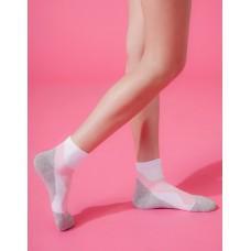 輕壓力流線型氣墊襪-白色