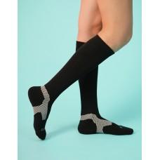 Y系列中筒運動機能輕壓力襪-黑色