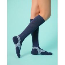 Y系列中筒運動機能輕壓力襪-藍色