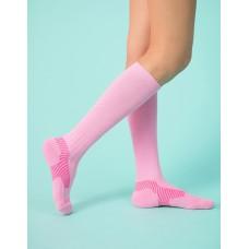 Y系列中筒運動機能輕壓力襪-粉紅