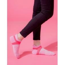 X型雙向減壓足弓船短襪-粉紅