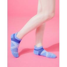 X型雙向減壓足弓船短襪-淺藍