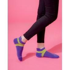 X型雙向減壓足弓船短襪-紫色