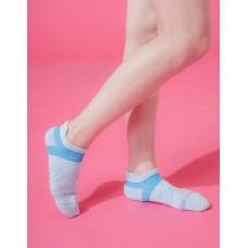 雙側翼護足輕壓力船短襪-水藍