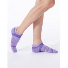 雙側翼護足輕壓力船短襪-紫色