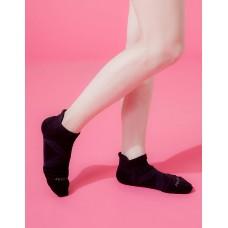 X型減壓經典護足船短襪-黑色