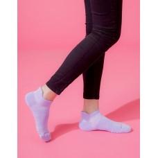X型減壓經典護足船短襪-紫色