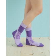 減壓顯瘦登山運動襪-紫色