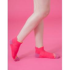 隨性塗鴉感輕壓力船短襪-桃紅