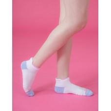 隨性塗鴉感輕壓力船短襪-白色