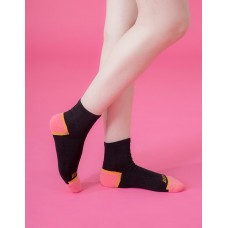 局部撞色輕壓力襪-黑色