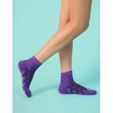 輕壓力氣墊機能襪-紫色