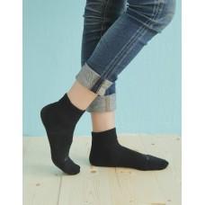 輕壓力單色足弓襪-黑色