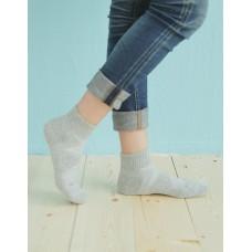 輕壓力單色足弓襪-灰色