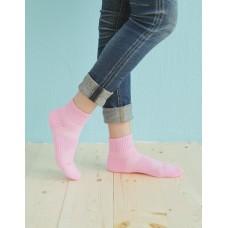輕壓力單色足弓襪-粉紅色