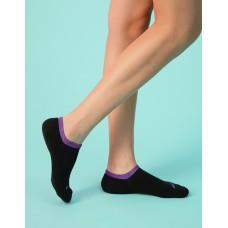 馬卡龍邊氣墊運動船短襪-紫色