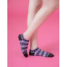 波西米亞微分子船短襪-黑色