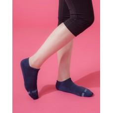 單色運動逆氣流氣墊船短襪-藍色