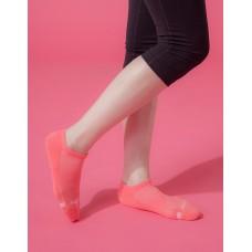 單色運動逆氣流氣墊船短襪-桃紅