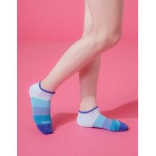 漸層果凍微分子船短襪-藍邊