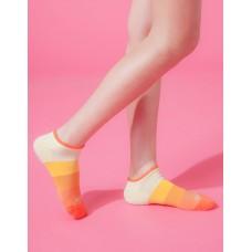 漸層果凍微分子船短襪-橘邊