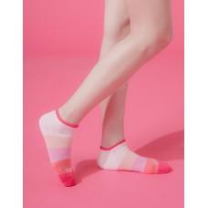 漸層果凍微分子船短襪-粉邊