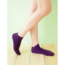 微分子氣墊單色船型薄襪 - 紫色