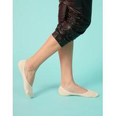 微氣墊波浪矽膠隱形襪-米色