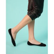 微氣墊波浪矽膠隱形襪-黑色